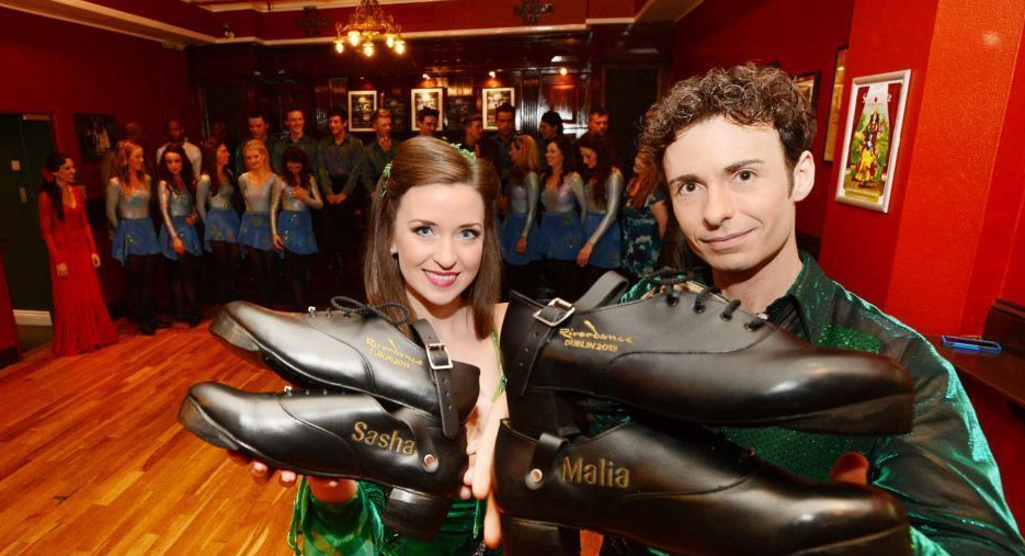 Fays shoes presented by Riverdance to Obamas
